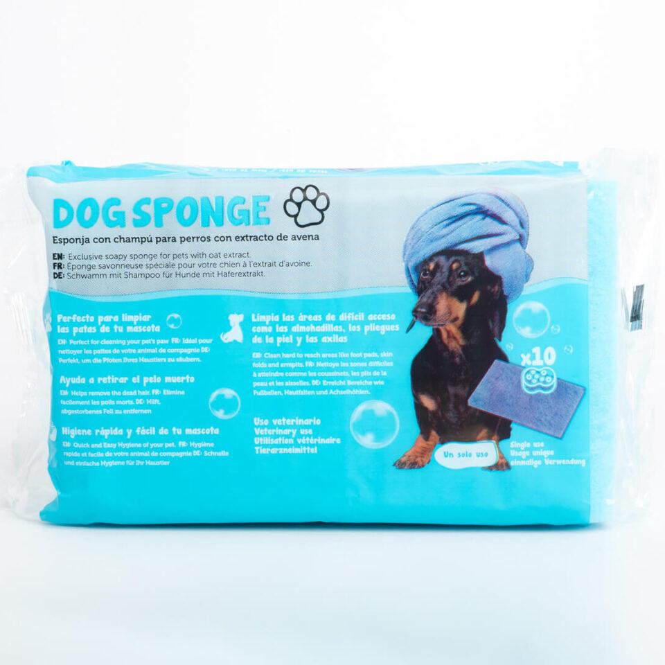 PET-003 SOAP SPONGE WITH DOG SHAMPOO – PACK 10